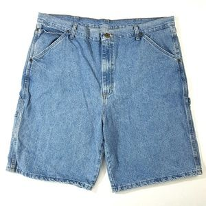 Lot of 2 Pairs of Wrangler Rugged Wear Jean Shorts